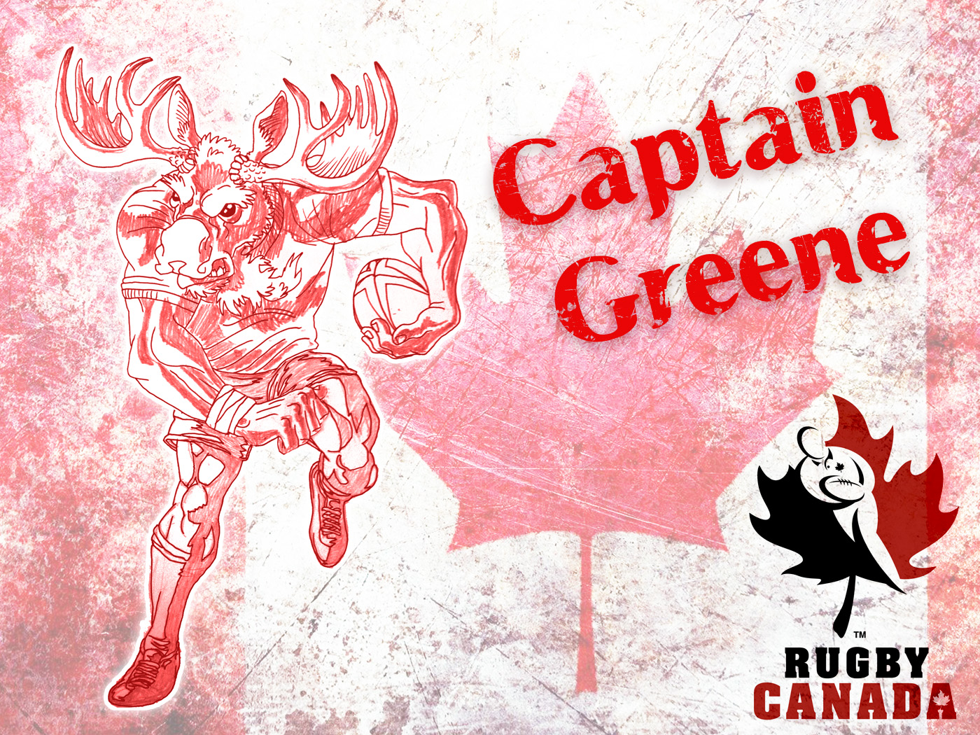 capitain greene canada rugby mascot by HaPoTi