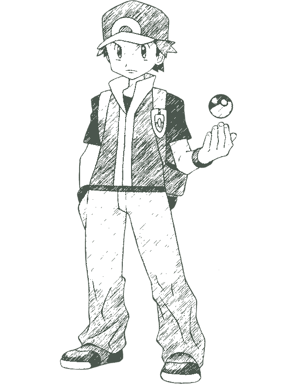 red pokemon coloring pages - photo#2
