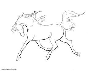 Free Arabian Horse Line Art