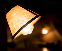 Lamp At Night in Coffee Shop