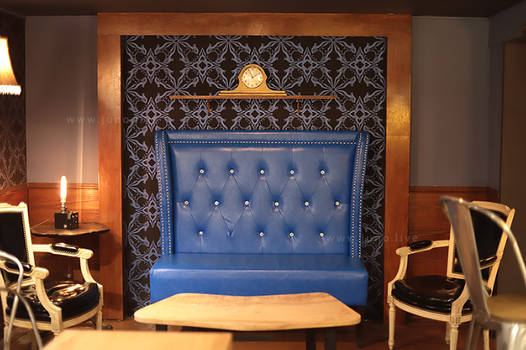 Blue Chair In Coffee Time