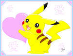 Pikachu with Heart
