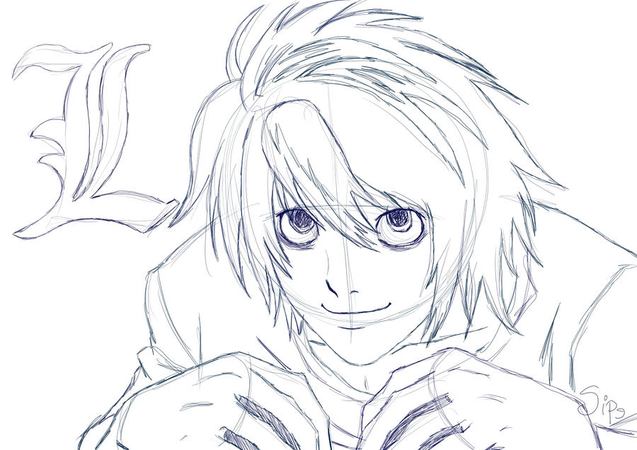 Dibujos Para Colorear De Death Note: L From Death Note By LikeMaNiac On DeviantArt