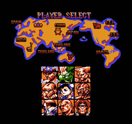 Street Fighter II (NES) - Player Select [Mockup]