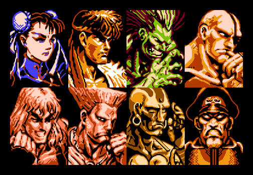 Street Fighter II NES - VS Portrait (XBR 3x)