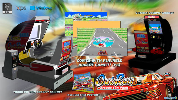 OutRun Arcade Fun Pack (FBX OBJ XPS EXE DOWNLOAD)