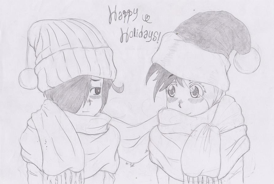 Christmas Sketch Two Cute Romance By Alphusprime On Deviantart