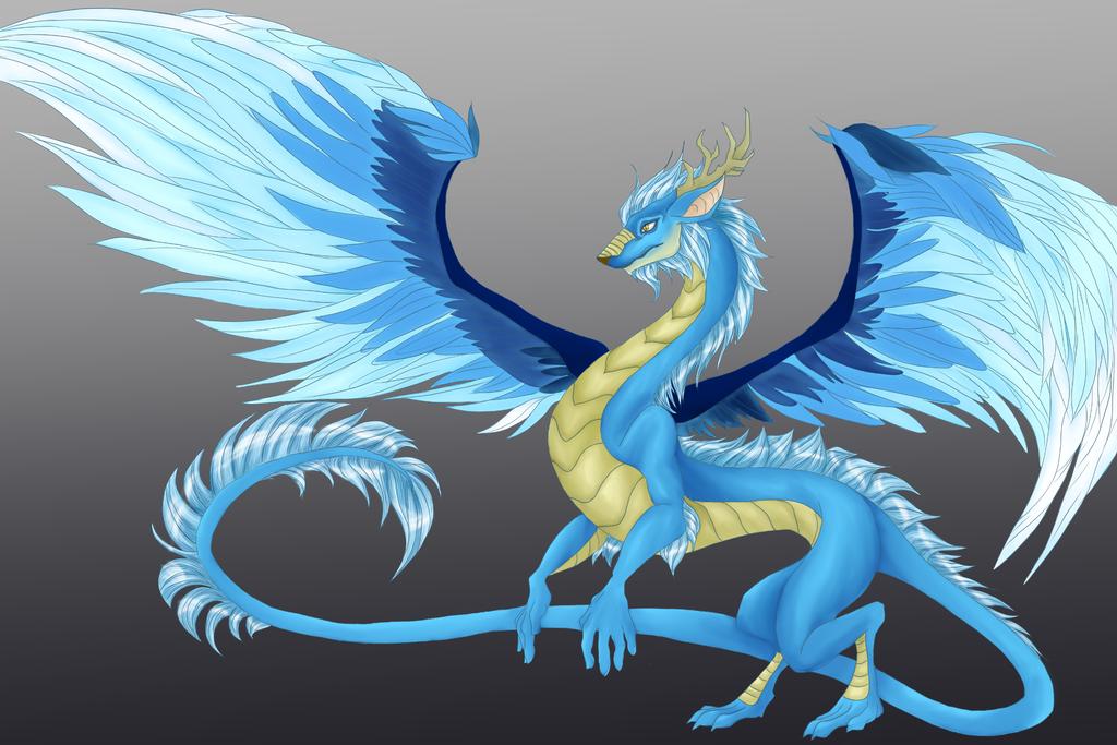 Blue Dragon by SwirlyXenapus