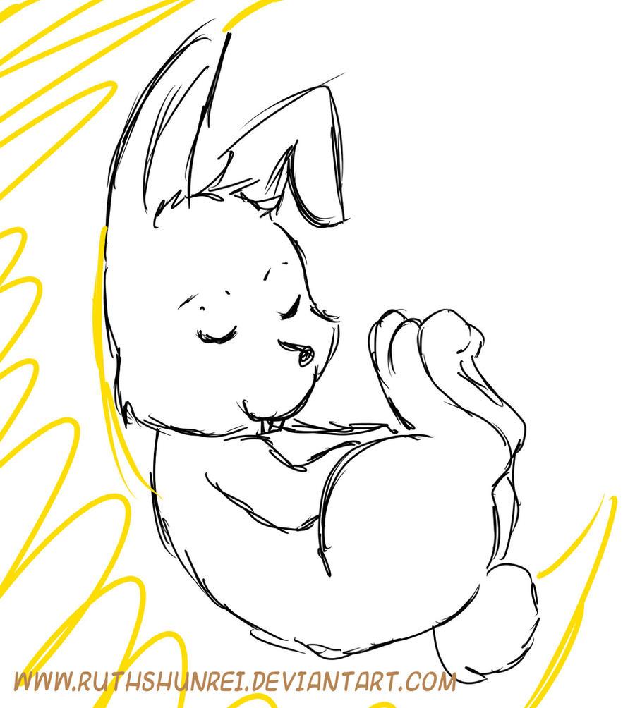 Conejo durmiendo by RuthShunrei on DeviantArt