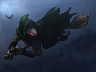 Evraen/Keys on a Flying Broom by Ferroth