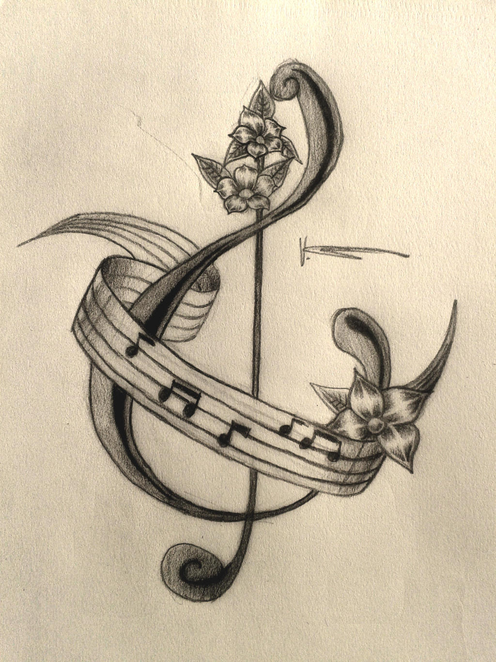 Music Tattoo by xx0vicky0xx on DeviantArt