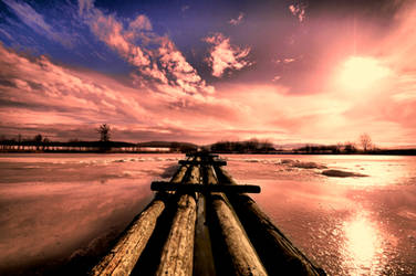 Winter pond by tomsumartin