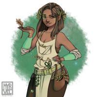 Garden Girl by myrvel