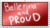 Ballerina Stamp by YuBit