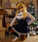 Lisa as a Monsters University cheerleader