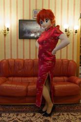 Ranma wearing a qipao by Aoi-the-kitsune