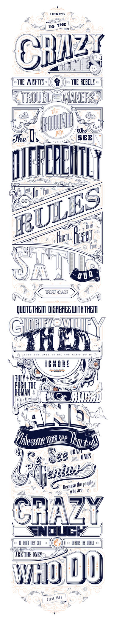Steve Jobs Famous Quote Typography