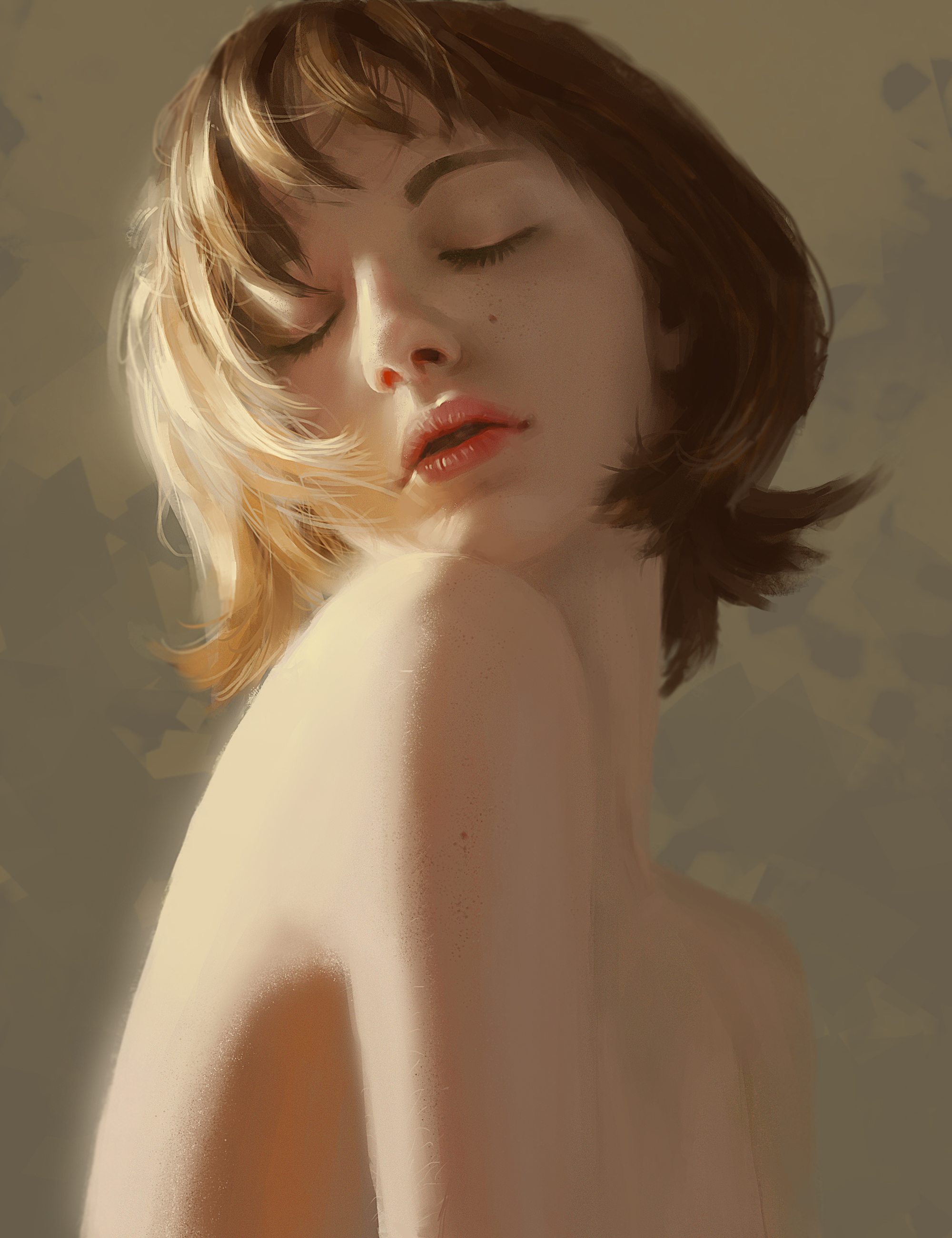 Girl Portrait By Vanduyart