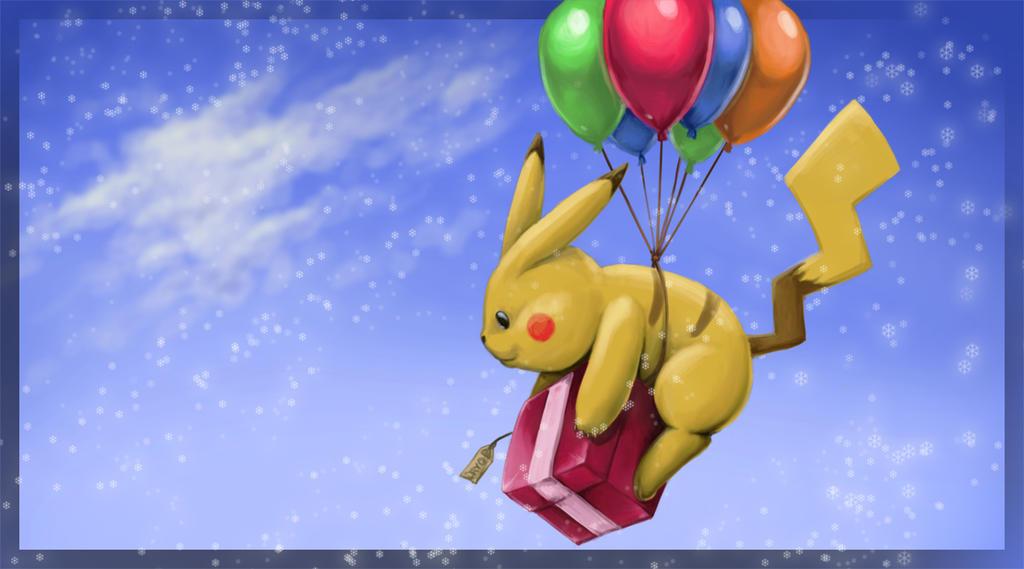 Balloon Drop Pikachu by Mijeman