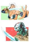 Diana vs Orc by JLRincon