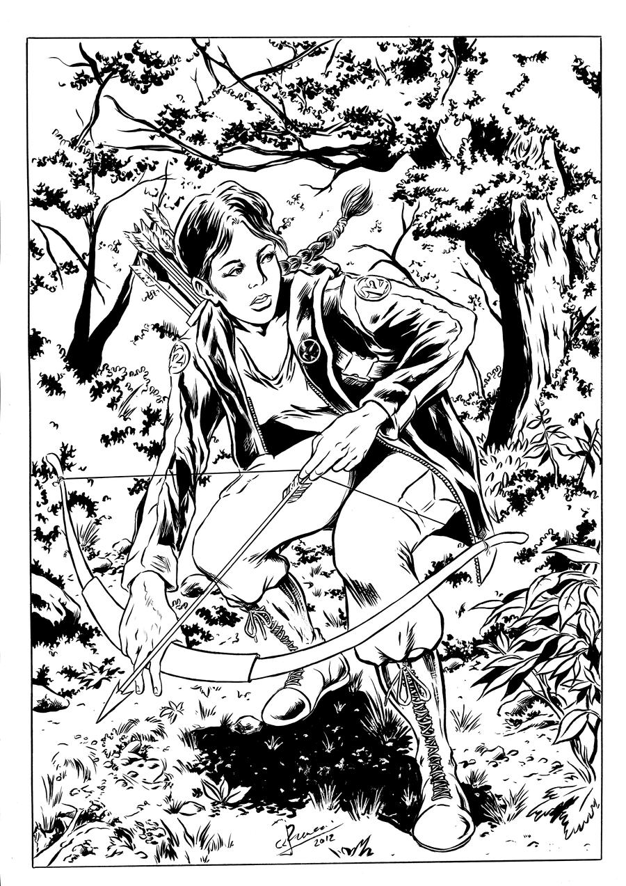 Hunger games coloring pages online - Hunger Games Character Coloring Pages