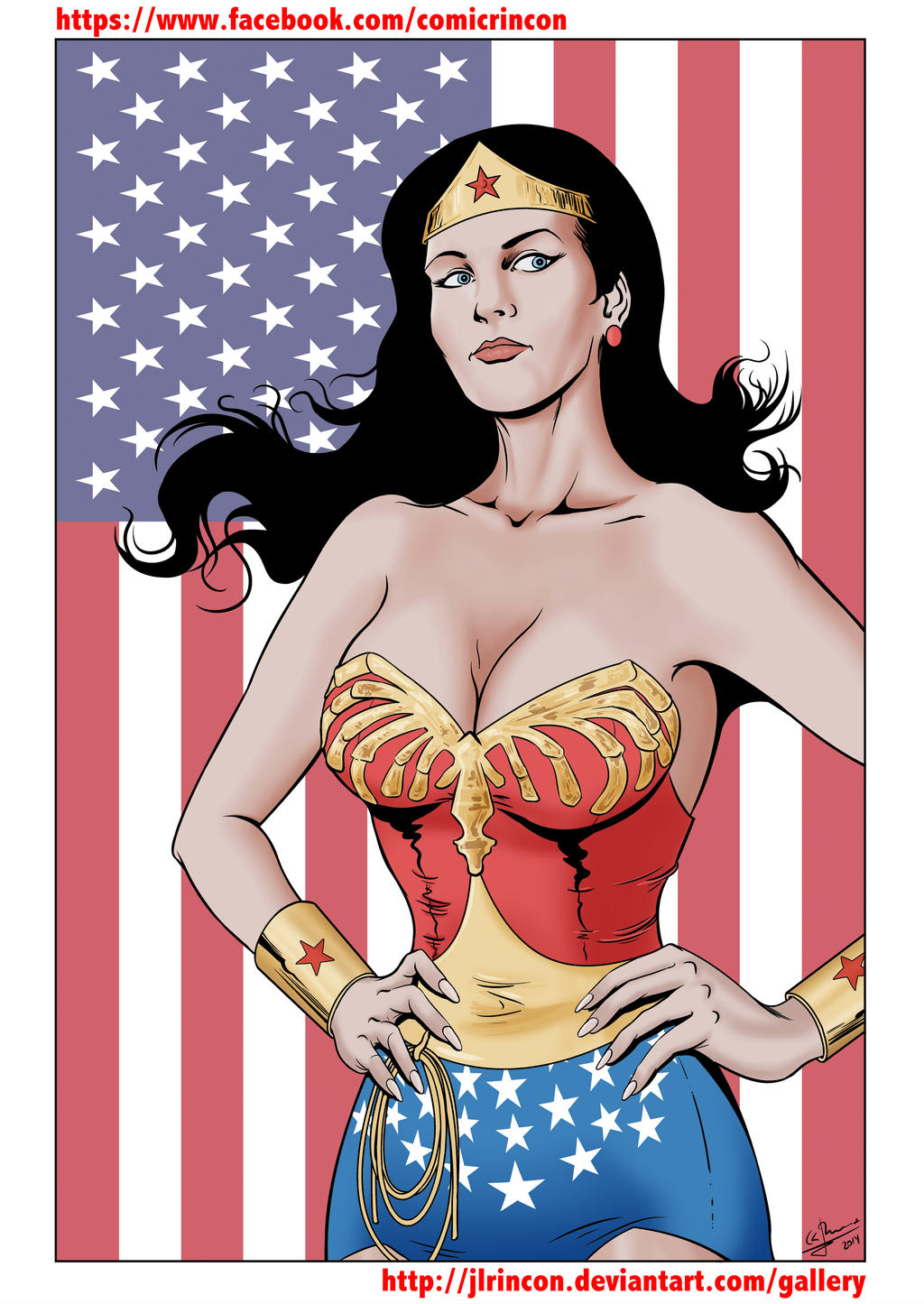 Wonder Woman Lynda Carter color by JLRincon