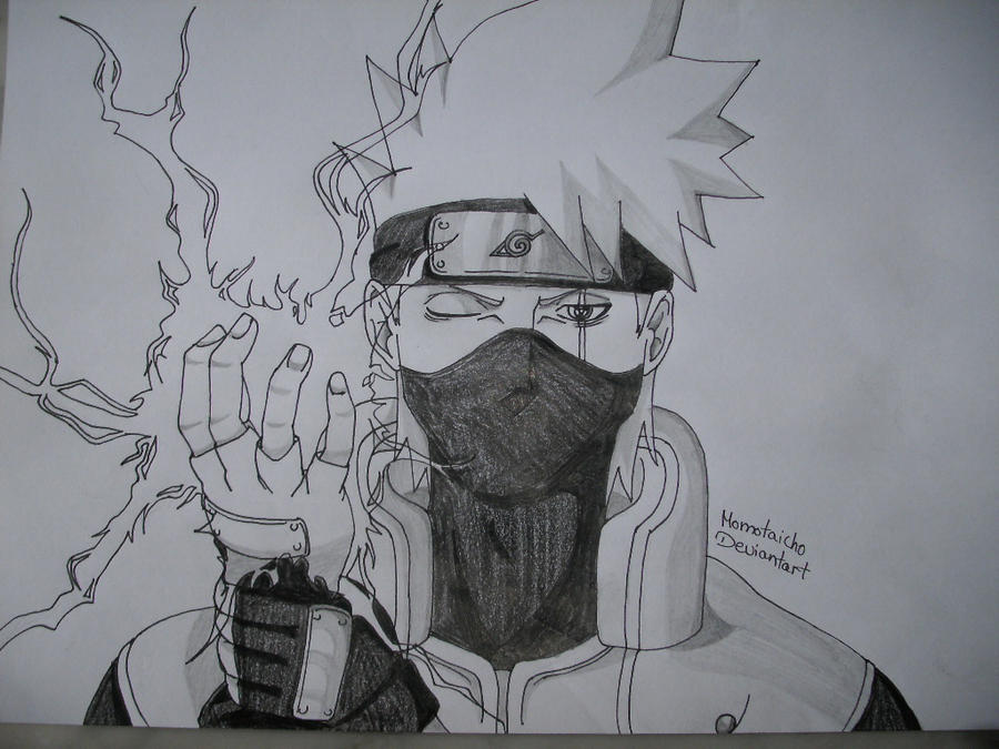 Portrait Kakashi with Chidori by DevilishMirajane