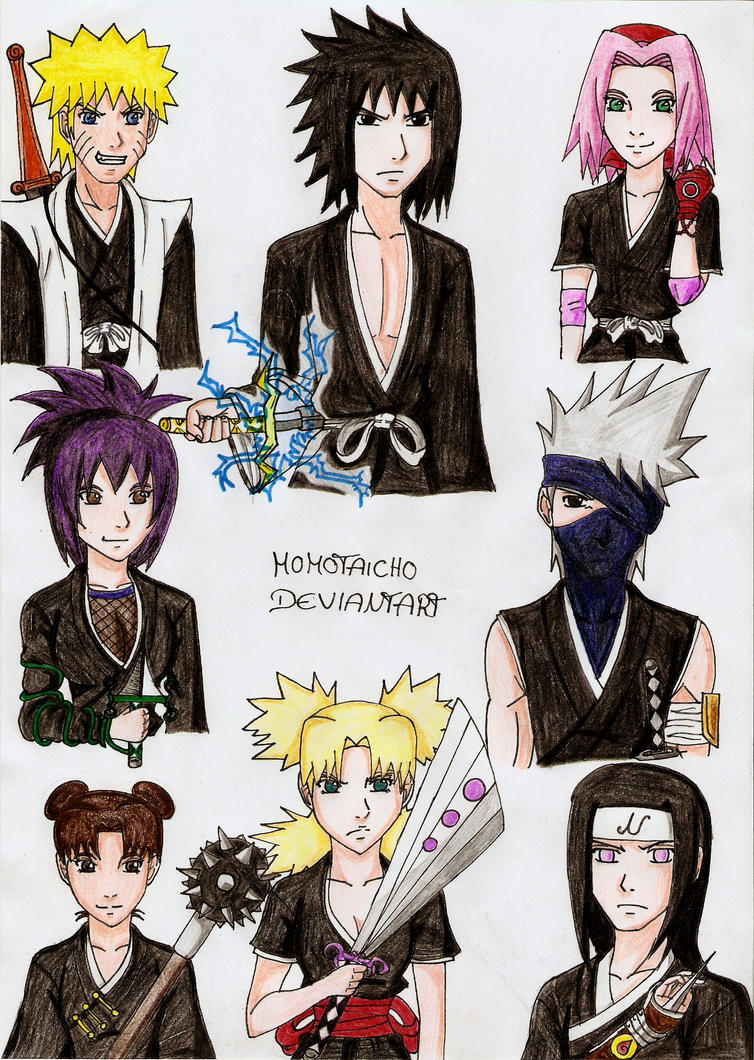 Naruto Charas as Shinigamis by DevilishMirajane
