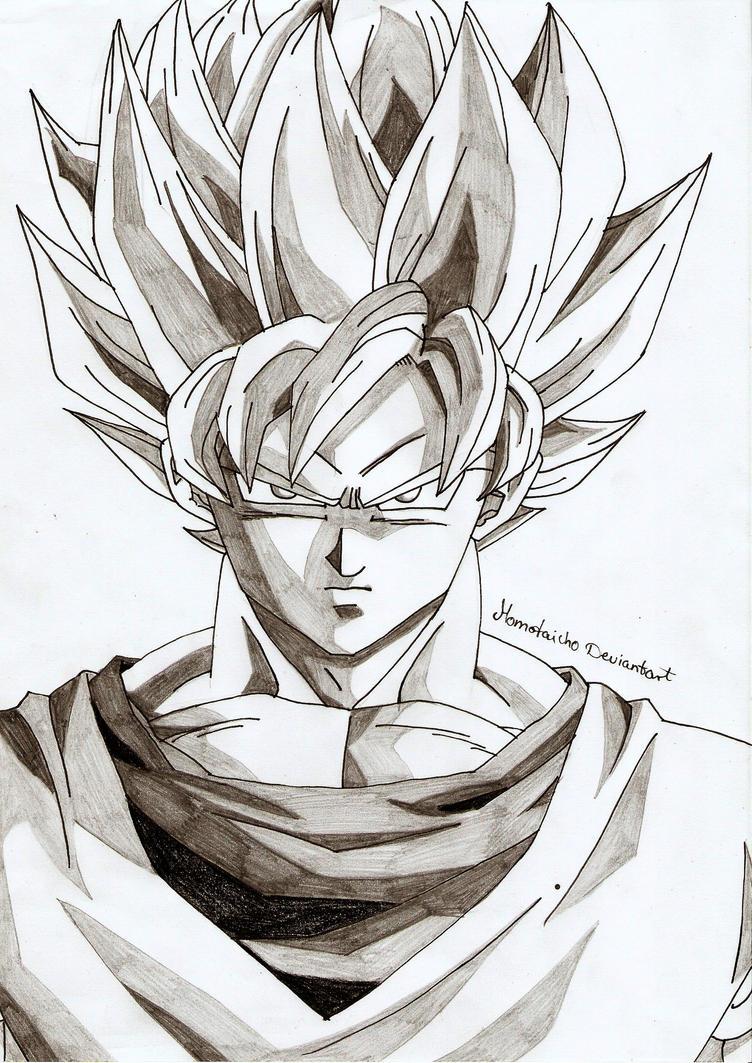 Portrait Super Saiyajin Son-Goku by DevilishMirajane
