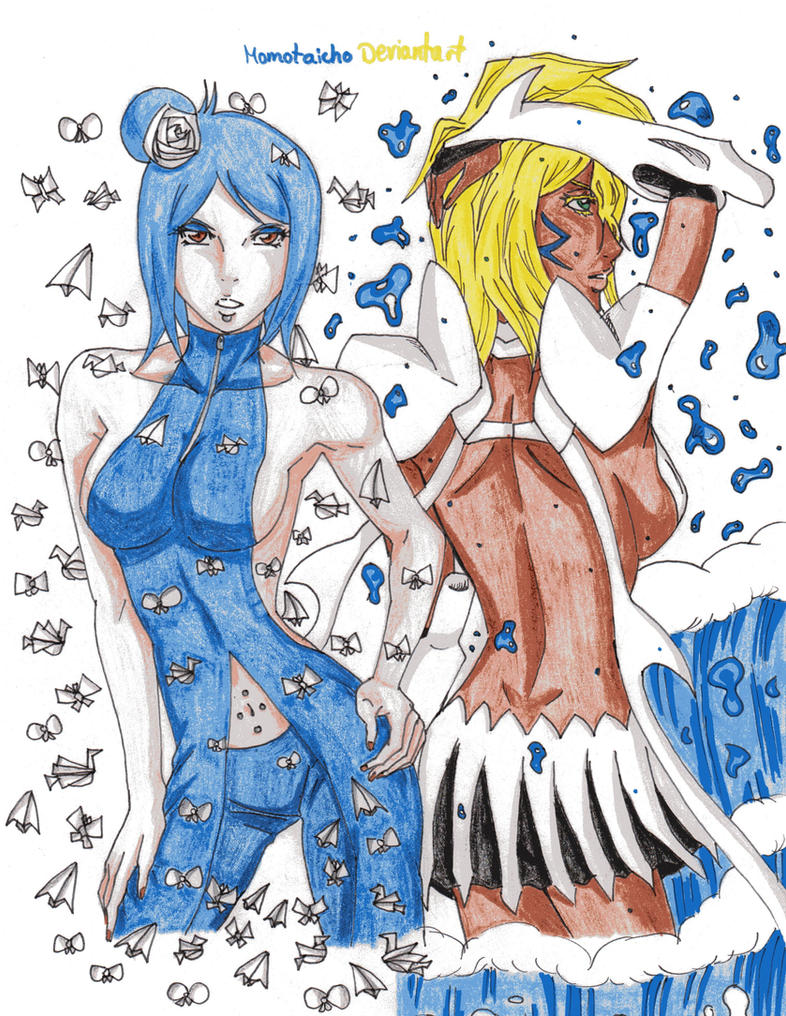 Konan and Tia Harribel crossover by DevilishMirajane