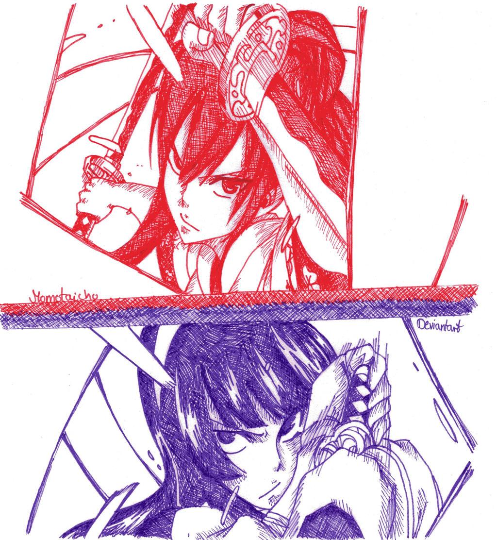 Erza vs Kagura by DevilishMirajane