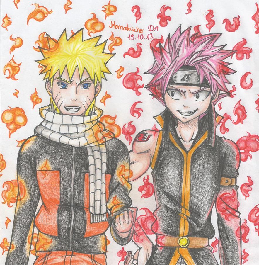 Naruto meets Natsu by DevilishMirajane