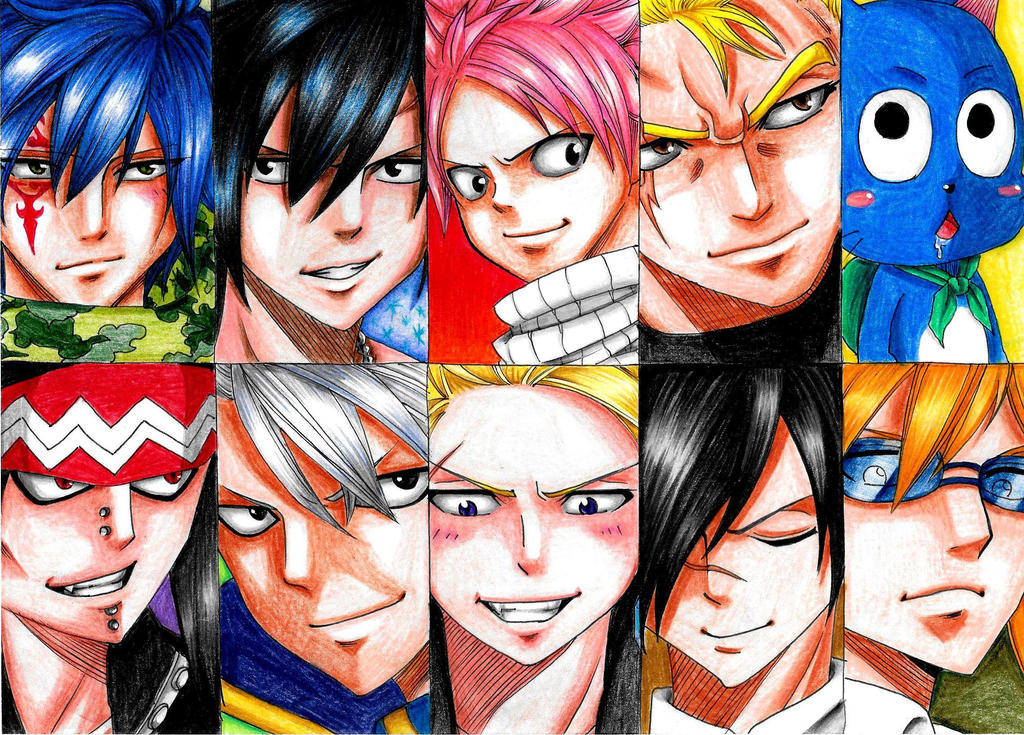 Favourite male Fairy Tail characters by Devi-chans-Art on ...