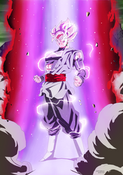 Black Goku ssj Rose estilo Z by jarimasu