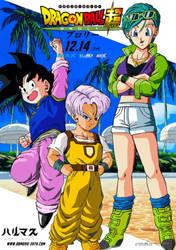 Poster promo de Bulma , Trunks y Goten de DBSB