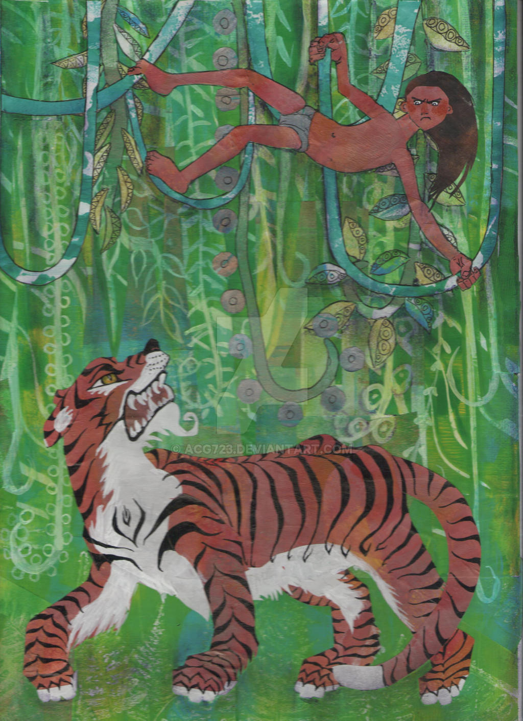 Mowgli and Shere Khan