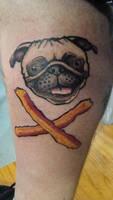 Pug and Cross-Bacon
