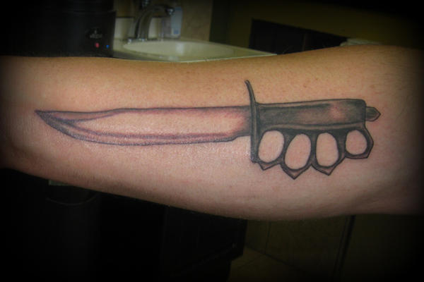 Knife tattoo by mercurydemosthenes on deviantart for Butcher knife tattoo