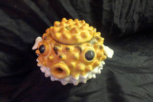 Puffer Fish Tea Pot angle 2