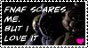 Fnaf scares me but i LOVE it-stamp by DJ-Artz101
