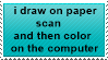 my current drawing process stamp by DJ-Artz101