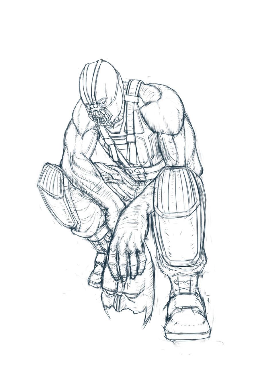 BATMAN BANE sketch by dockdark on DeviantArt