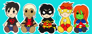 YJ - Chibis Colored by Catgirlemi7