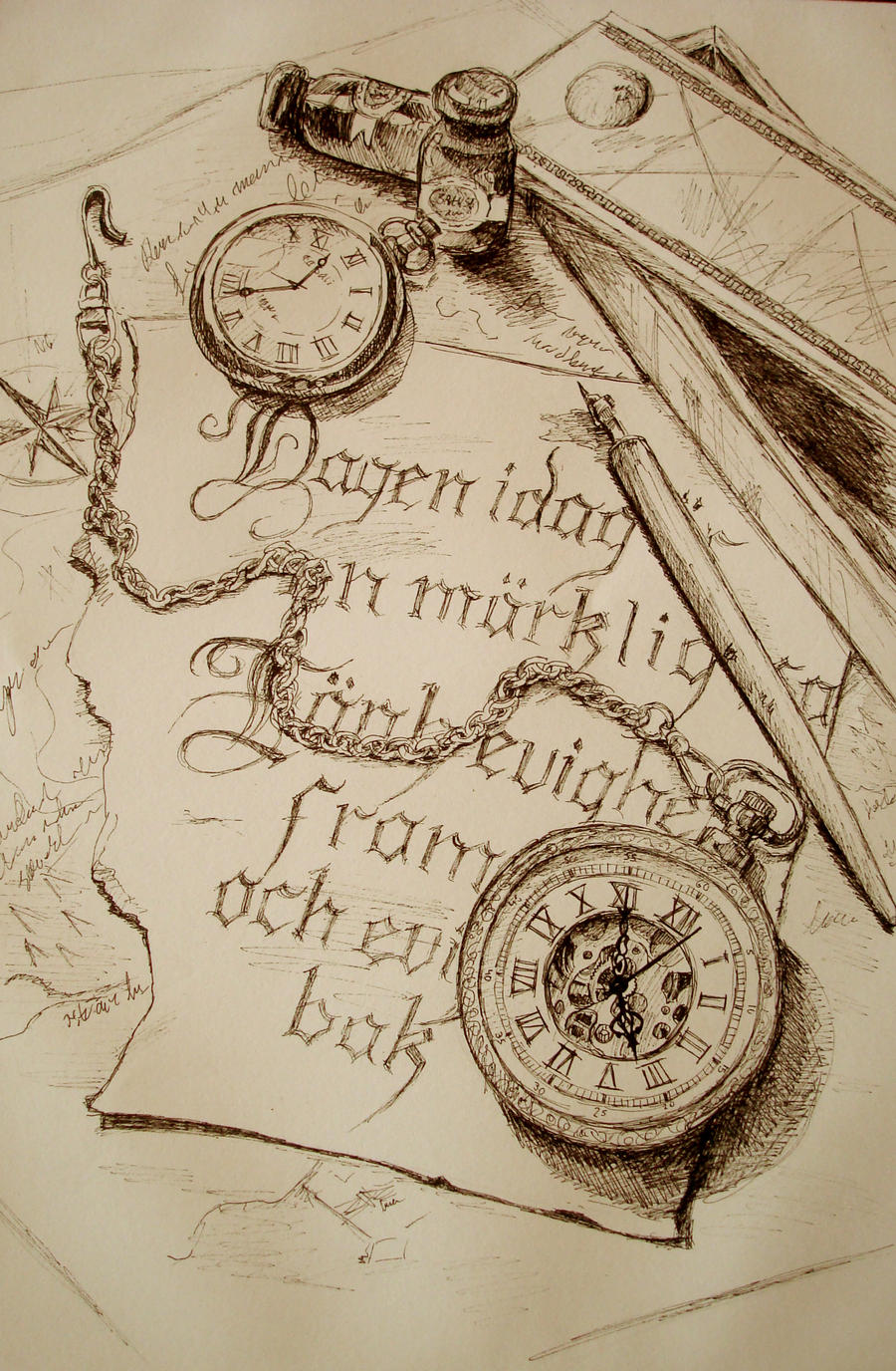 Sketch, pocket watch by Ulltotten on DeviantArt