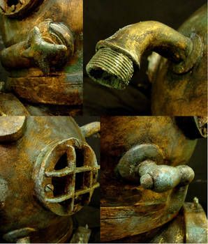Diving helmet details