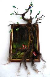 Felted tree 2.0