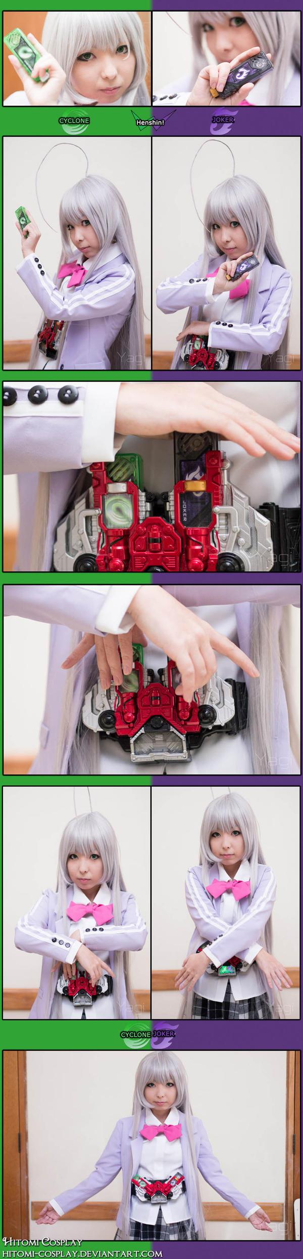 Kamen Rider W janai! Haiyore! Nyaruko-san da! by Hitomi-Cosplay