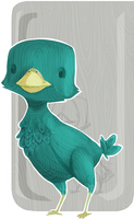 Wooded Wingless Birdie by ShannaBanan-o-rama