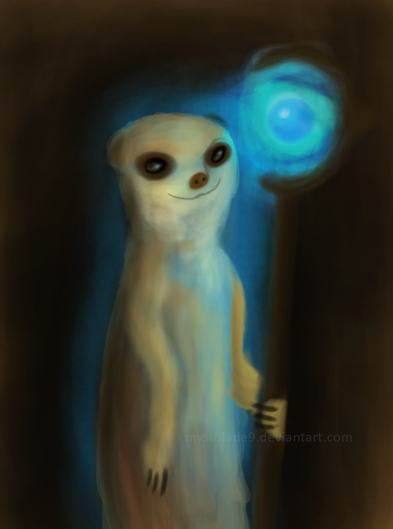 Meerkat Mage by mystblade9