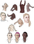 skin coloring and torso sketches